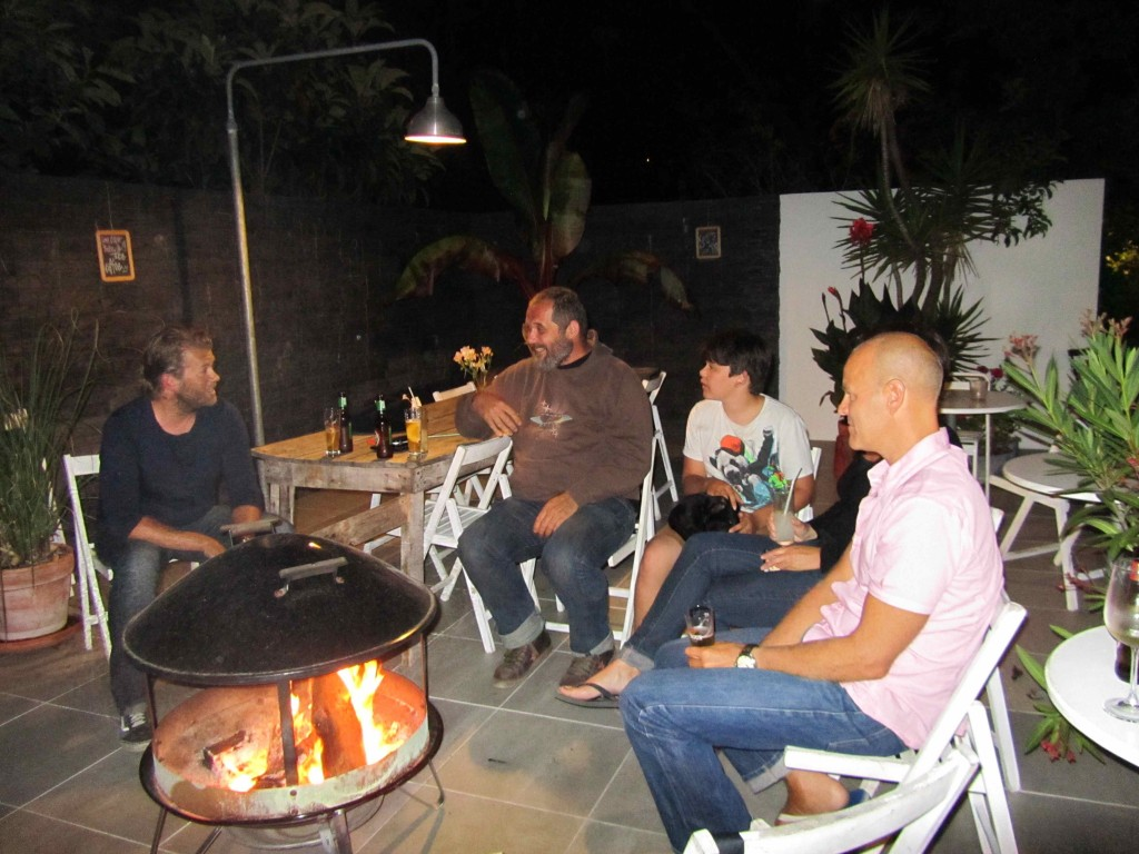 Enjoying evenings around the fire in the coolest campsite in Portugal