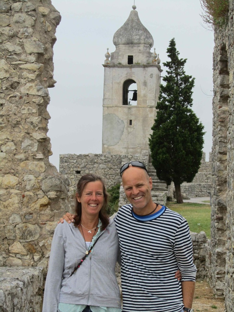 Exploring the castle at Montemor-O-Velho with Renata