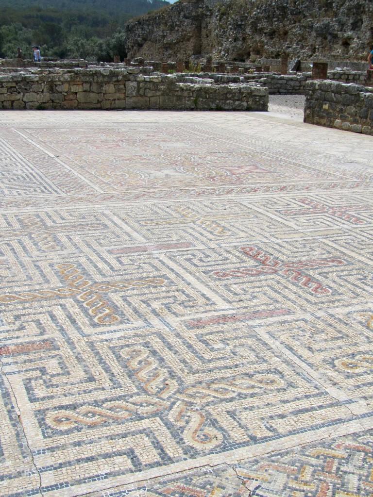 Exquisite mosaics at Conimbriga