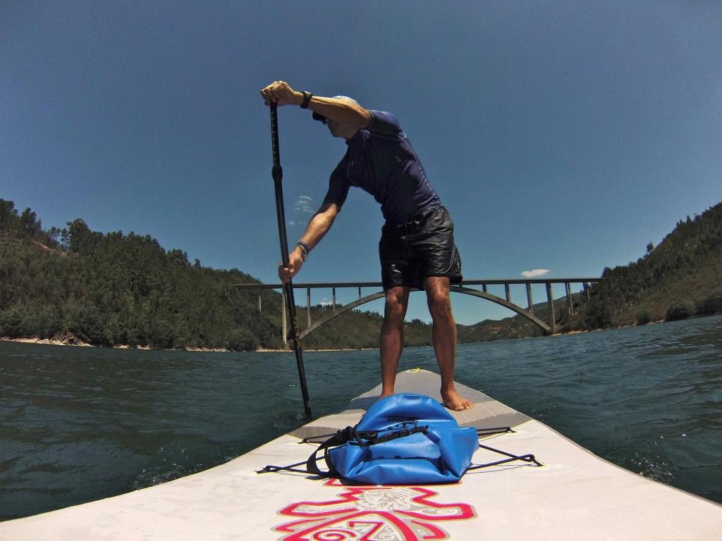 SUPing on the Castelo do Bode lake