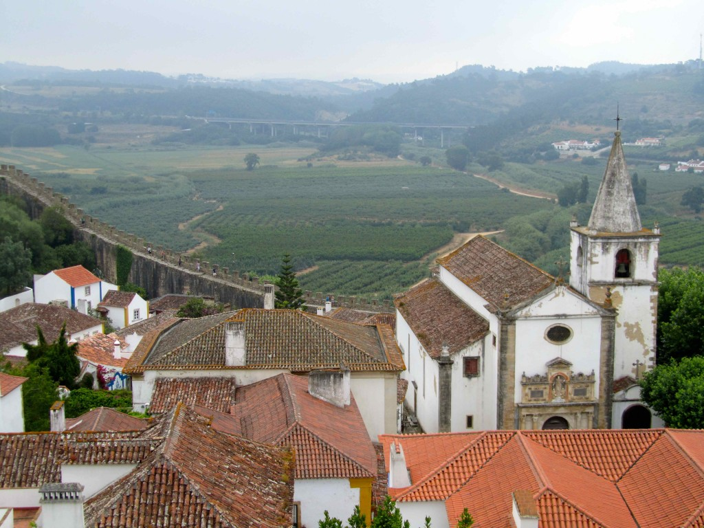 Rooftop views of Obidos from the walls