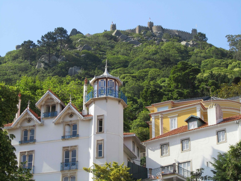 Sintra, nestled in green hills and topped by a ruined Moorish castle
