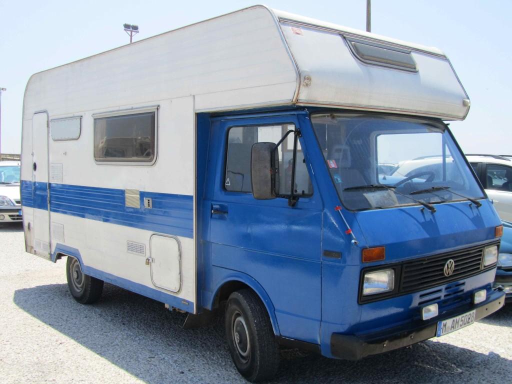Surfer VW camper caravan, Figueira da Foz