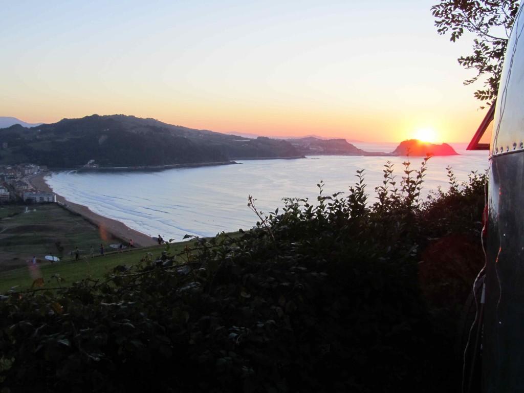Evening view from camp, Zarautz