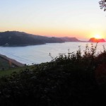 Evening view from camp, Zarautz