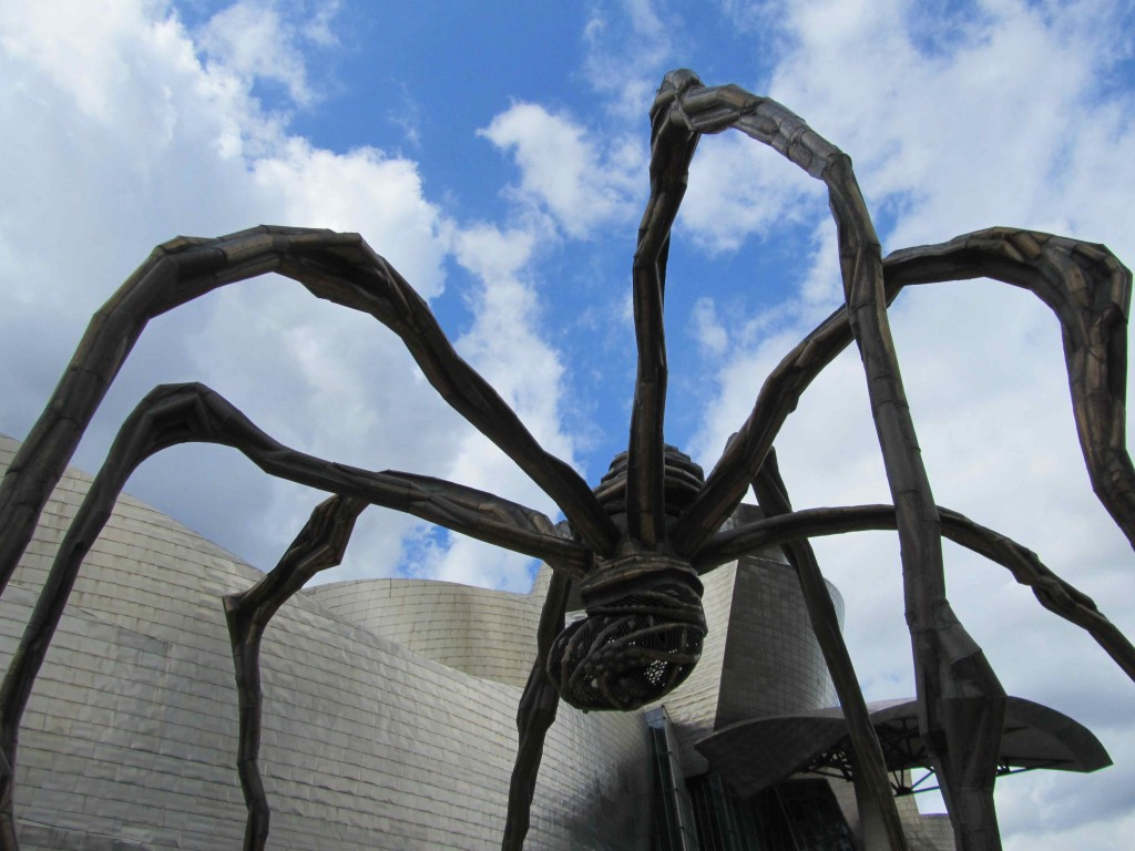 Louise Bourgeoise spider at the Guggenheim