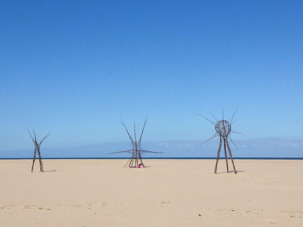 Sculptures on the beach, Plettenberg Bay