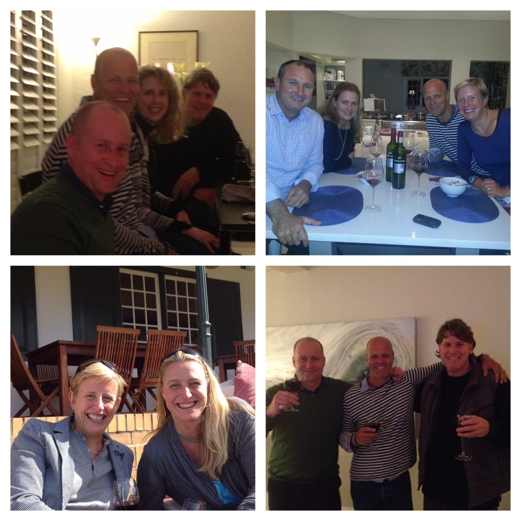 Catching up with Steve, Antonia, Jeremy, Philip, Megan and Rosie in Cape Town