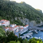 A typical Basque fishing village perched on a hillside