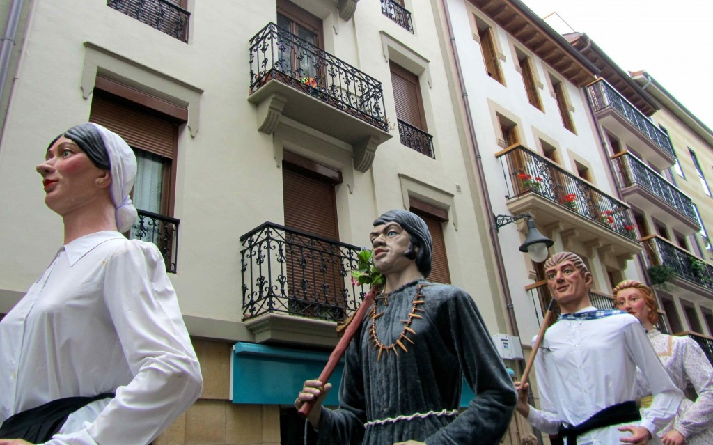 A Basque festival in the streets of Zarautz
