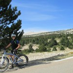 Mont Ventoux: 10kms down, with the summit in the background