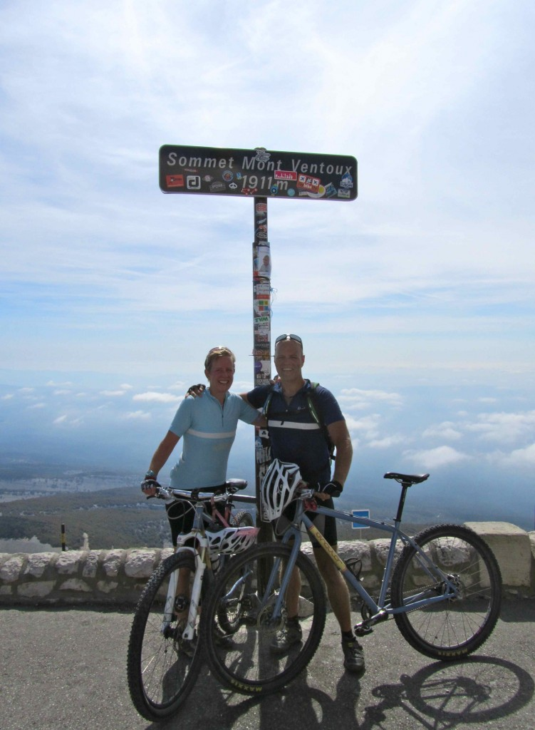 At the summit, Mont Ventoux