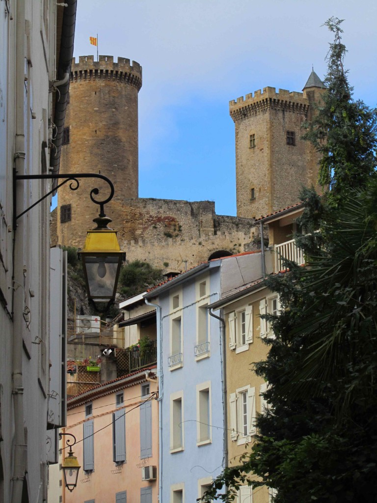 The three turreted Cathar castle at Foix