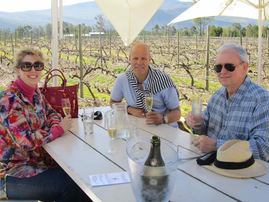 Lunch in the vines at Bramon Wine Estate, with Len and Antonia
