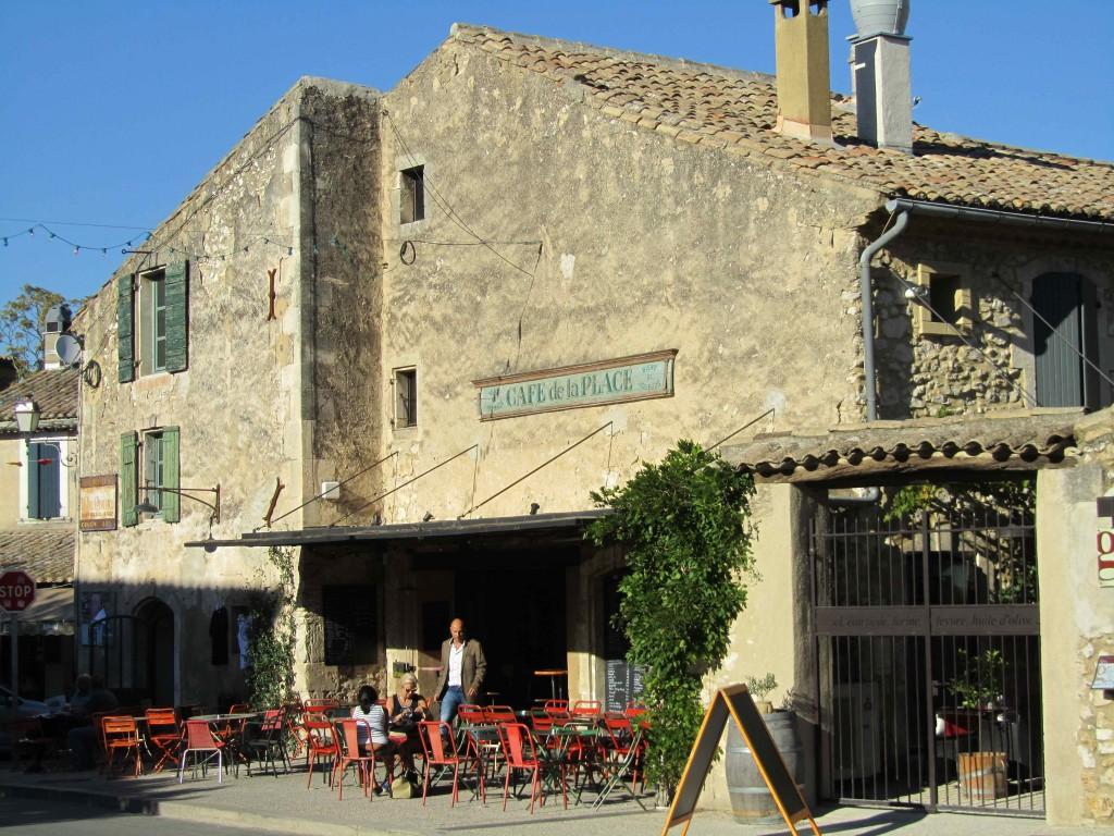 Our favourite cafe, Cafe de la Place, Eygalieres