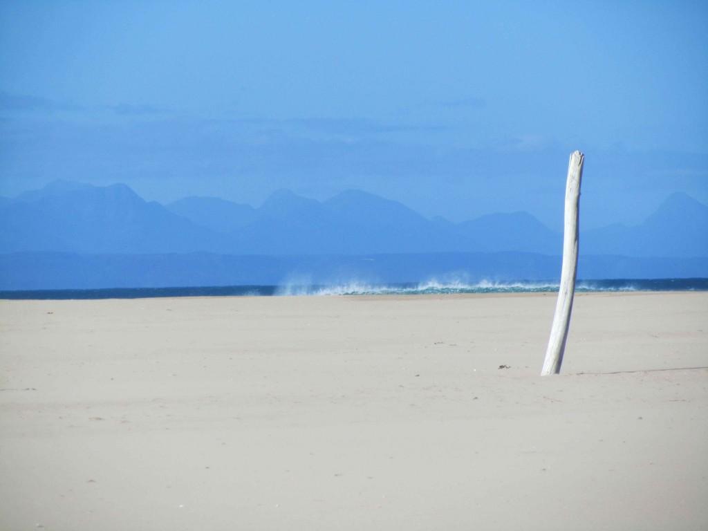 The beach at Plett
