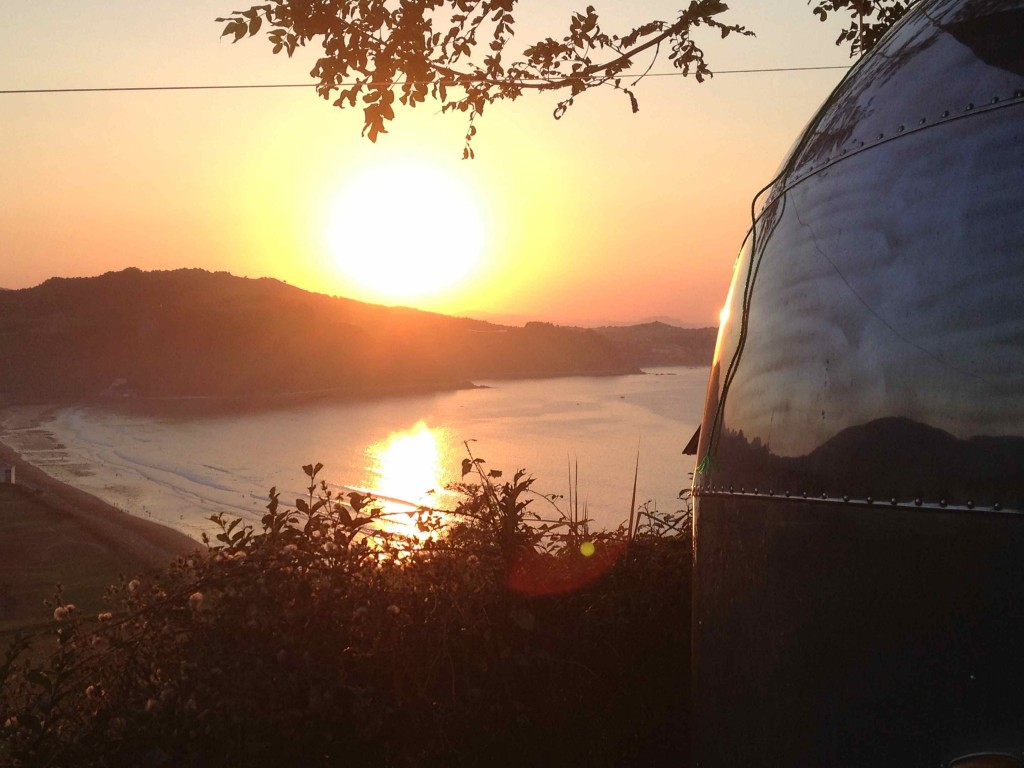 Our evening view in camp, Gran Camping Zarautz
