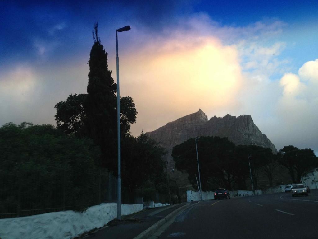 Sunset on the drive up Kloof Nek