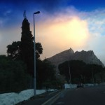 Sunset on the drive up Kloof Nek
