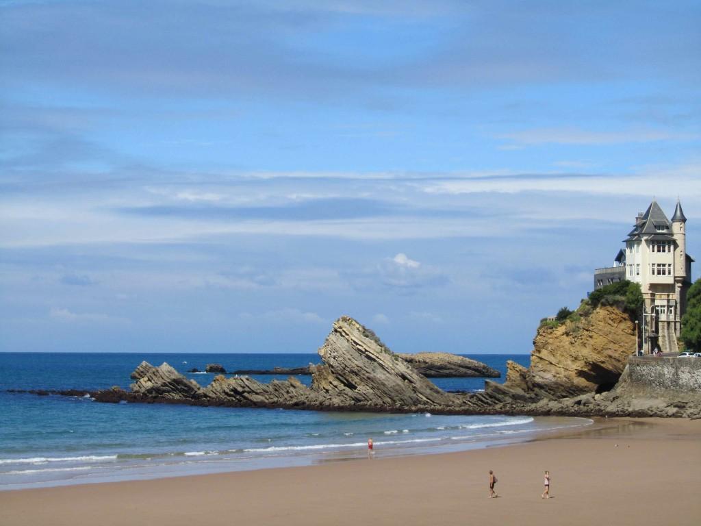 The iconic Villa Belza on Biarritz's famous surf beach