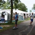 Boarding through the busyness, Gran Camping Zarautz