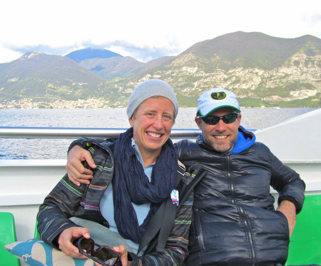 Catching the traghetto to Monte Isola with Gaudy