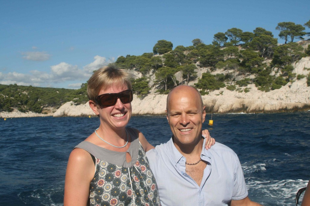 Enjoying the boat trip to explore the Calanques