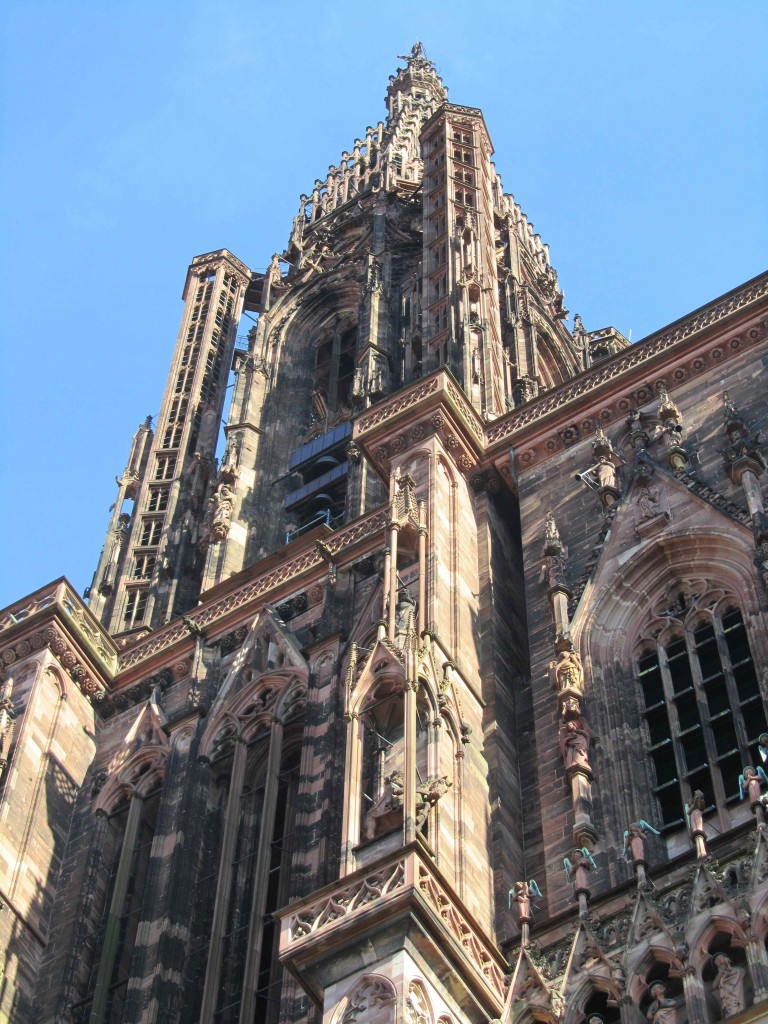 The red sandstone Gothic cathedral, Strasbourg