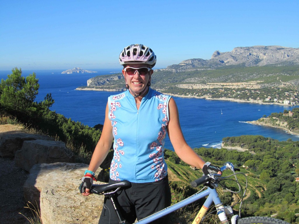 Sweaty from the severe gradients of the Route des Cretes