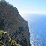 The dramatic sea cliffs along the Route des Cretes