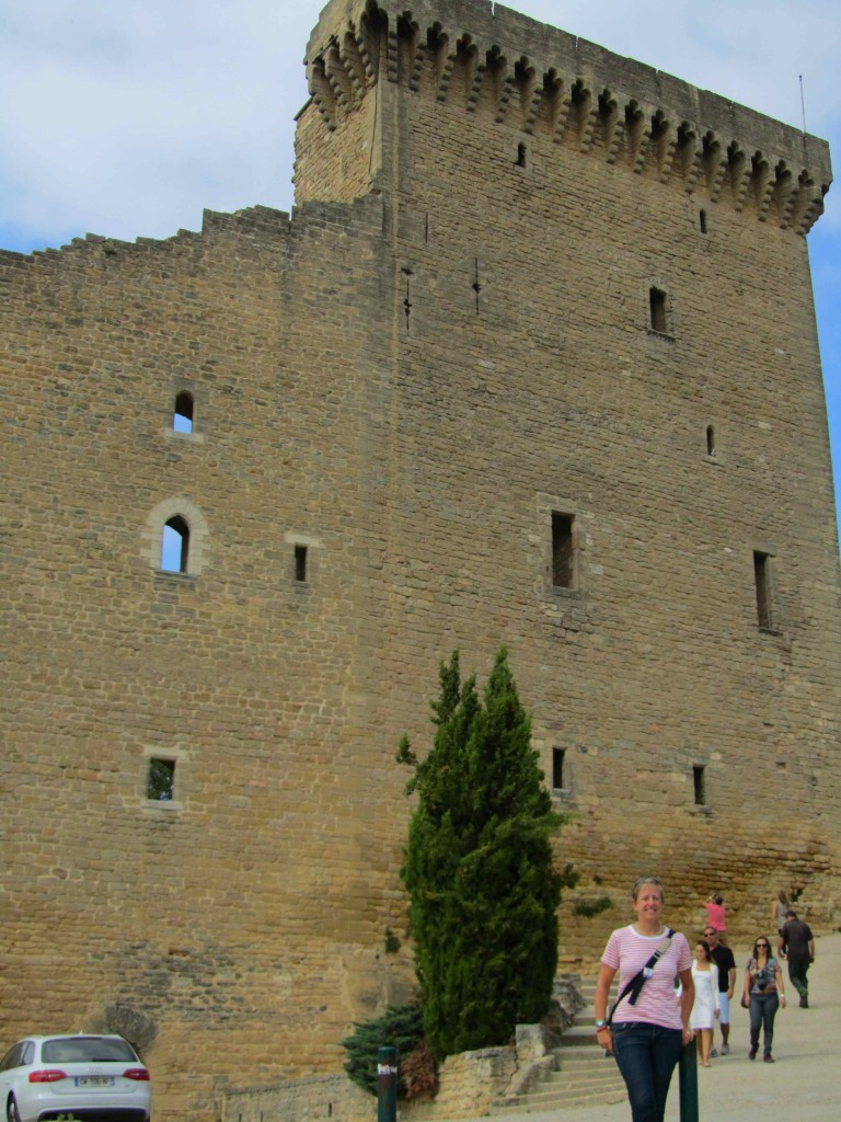 The remaining wall of the Pope's chateau at Chateauneuf-du-Pape