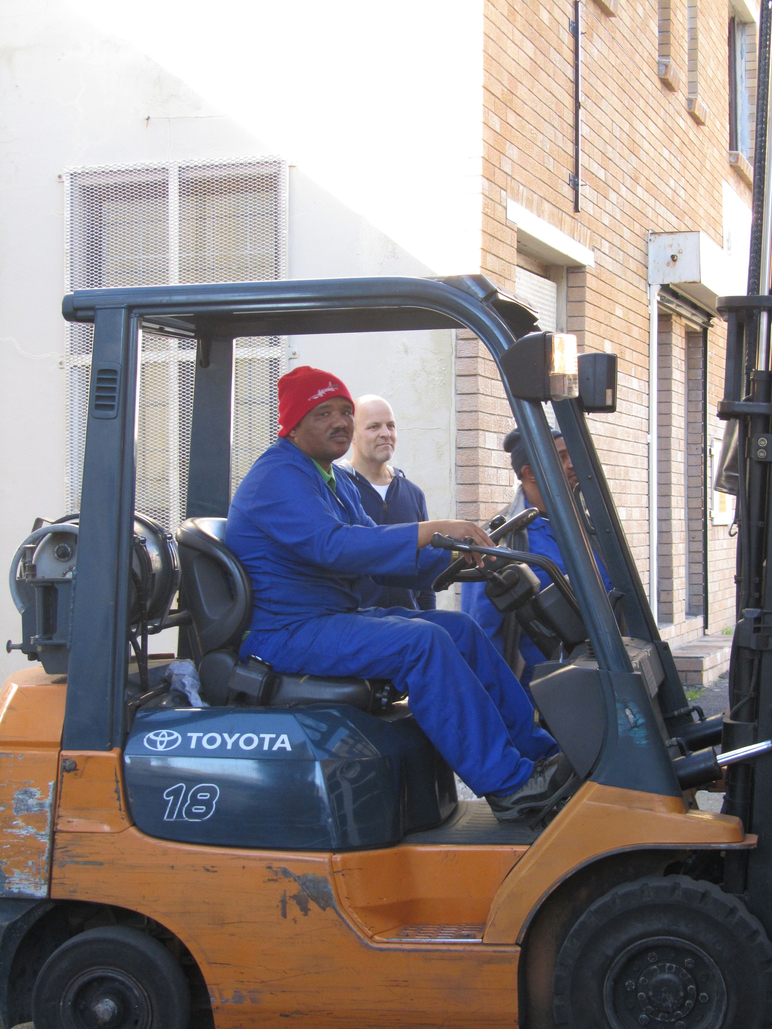 Our new friend, the forklift driver