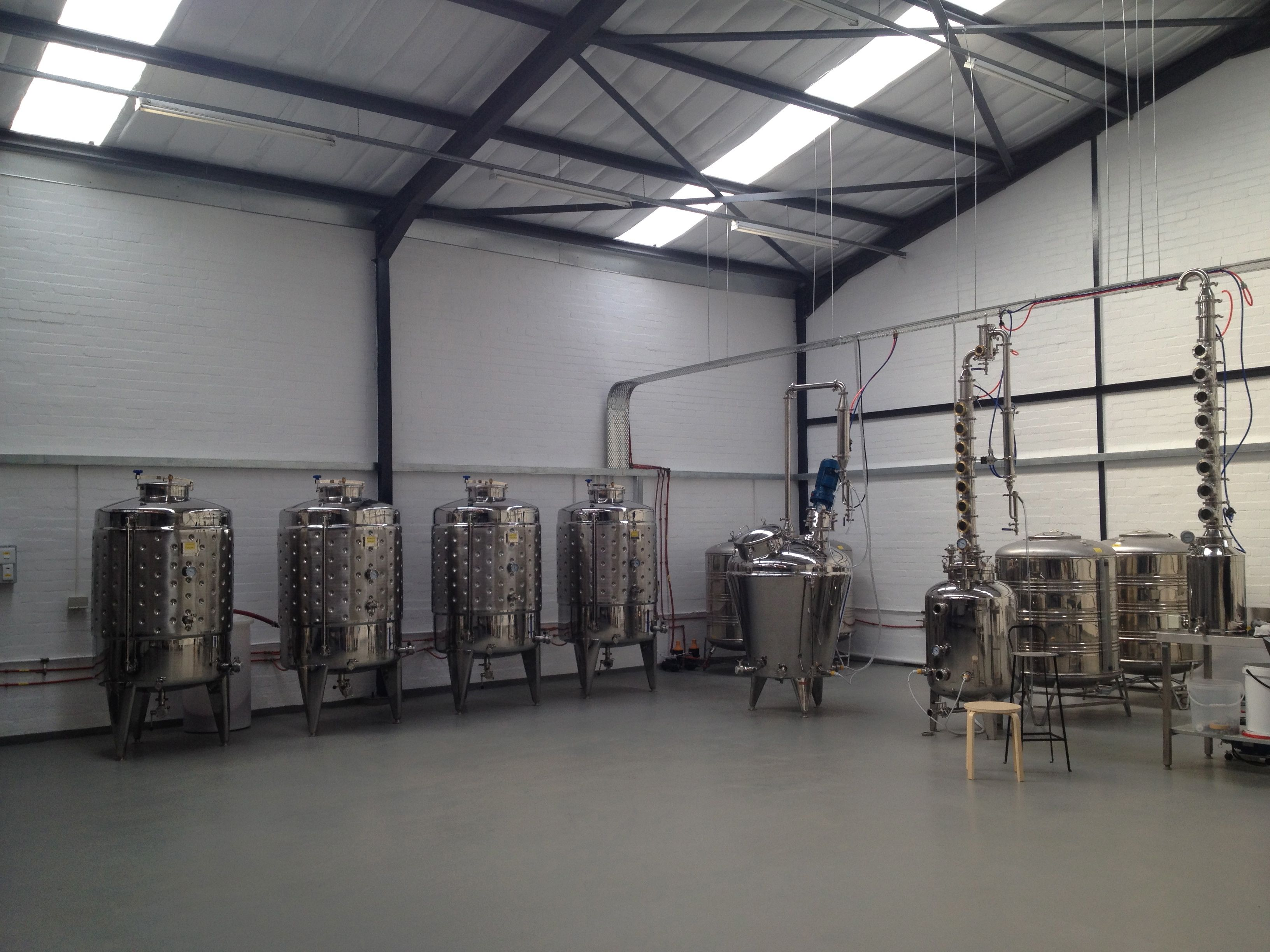 The distillery fully assembled