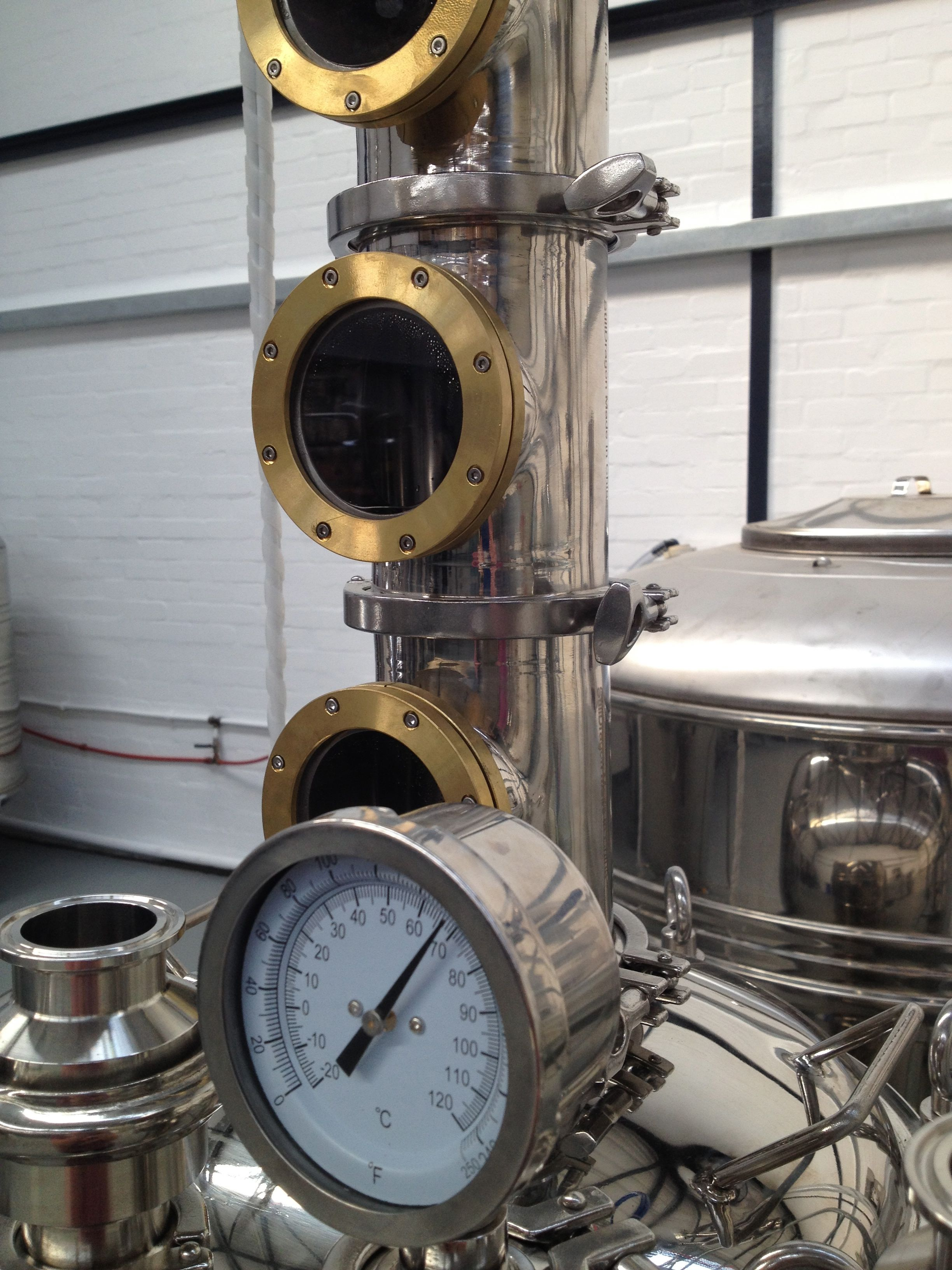 The ginning still, heating up