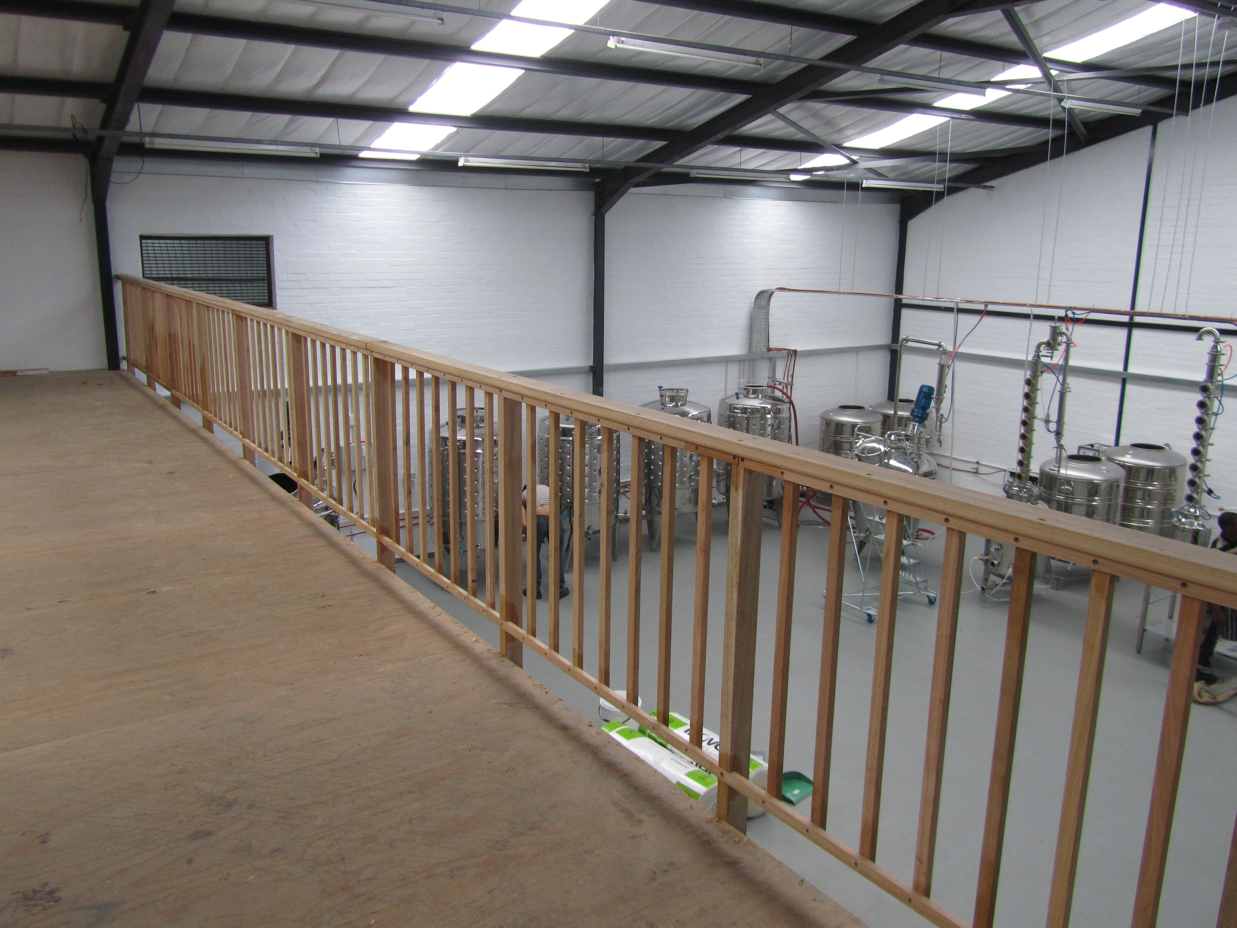 The new balustrade is nearly done